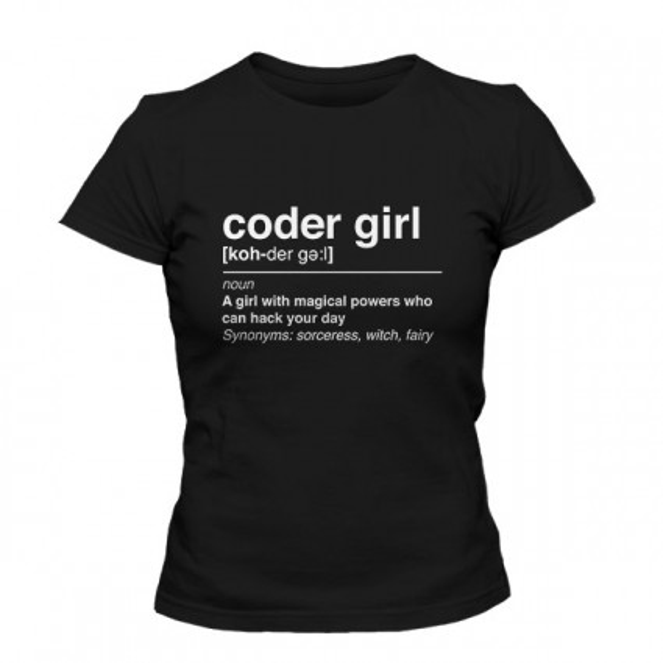 تیشرت دخترانه Coder Girl Programmer