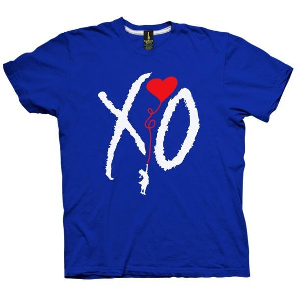 تی شرت گرافیکی طرح XO