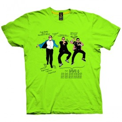 تی شرت Gangnam Steps