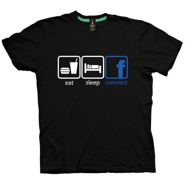 تی شرت Eat Sleep Connect