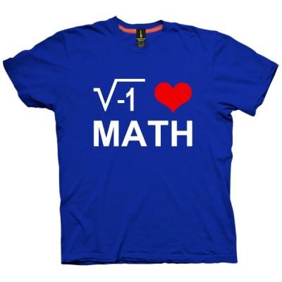 تی شرت I Love Math