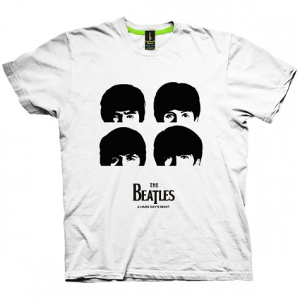 تی شرت گروه بیتلز طرح A hard day's night