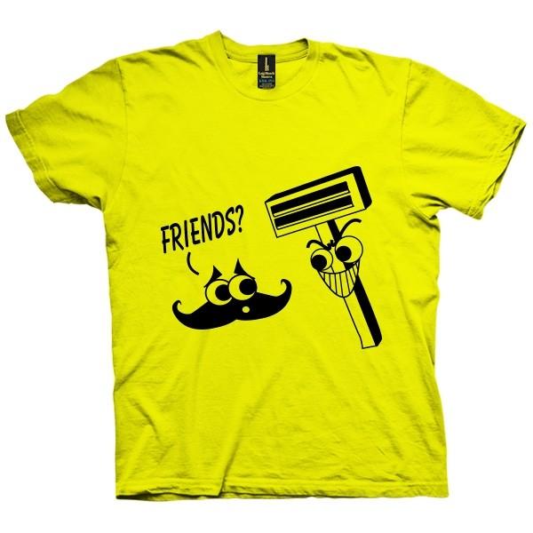 تی شرت Moustache Shaver Friends