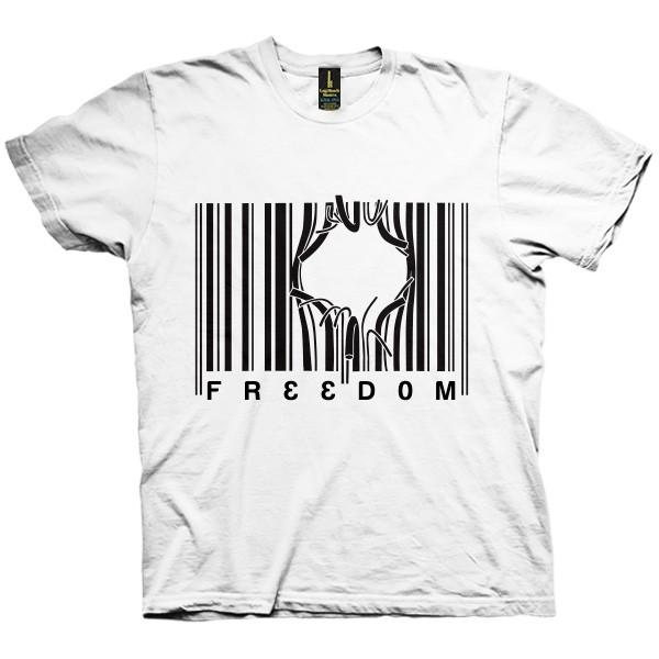 تی شرت Barcode Freedom