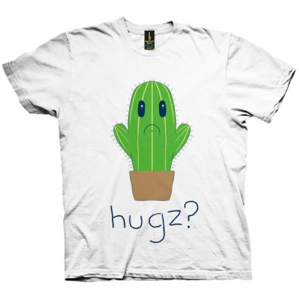 تی شرت No Hugs for Cactus