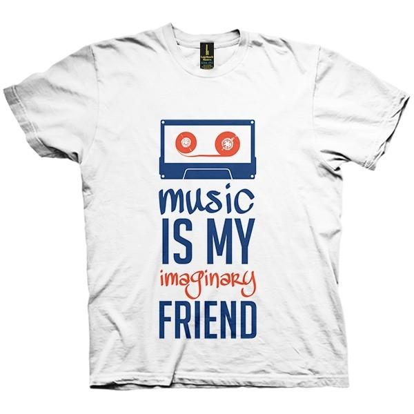 تی شرت Music is my friend