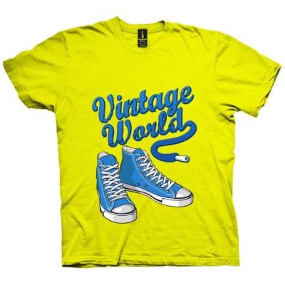 تی شرت Blue Vintage Sneakers