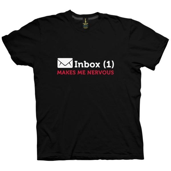 تی شرت Inbox Makes Me Nervous