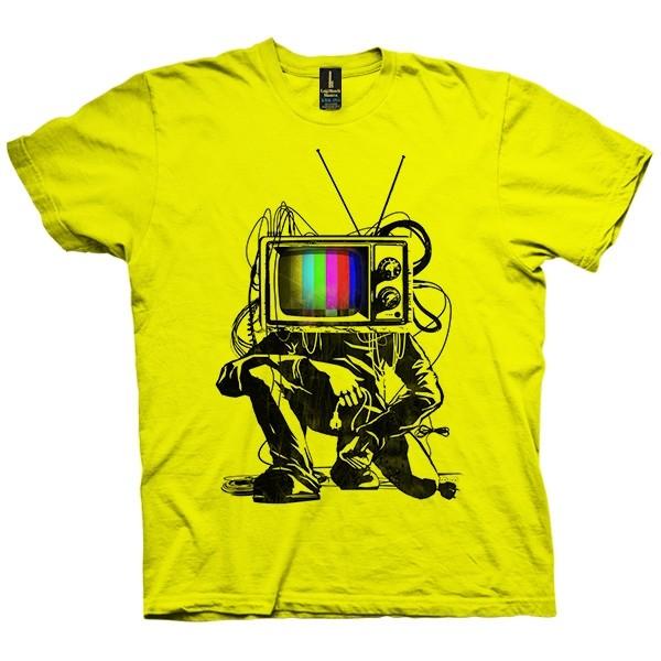 تی شرت Retro TV Colour Test Man
