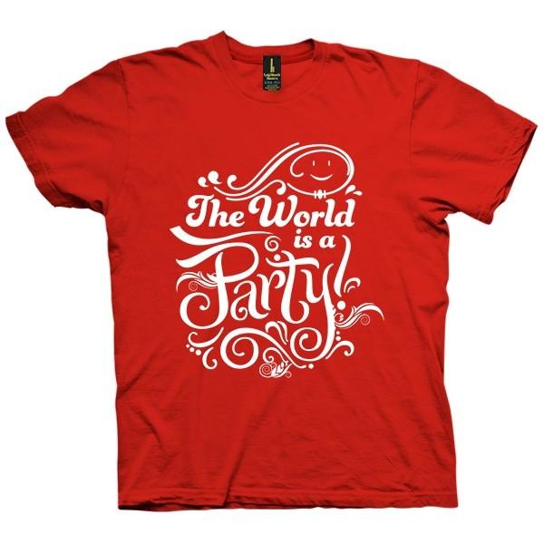 تی شرت The World is a Party