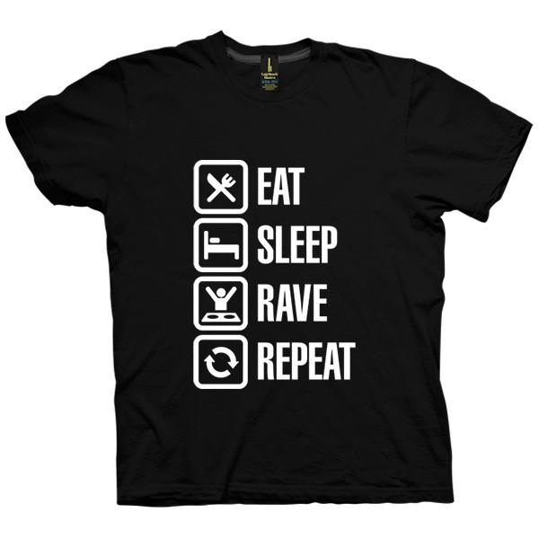 تی شرت Eat Sleep Rave Repeat
