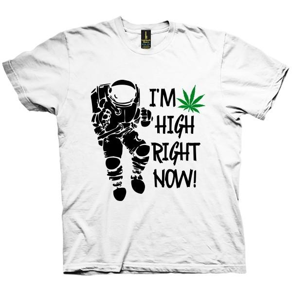 تی شرت I am so high right now