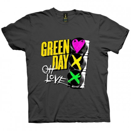 تی شرت Green Day Red Light Love