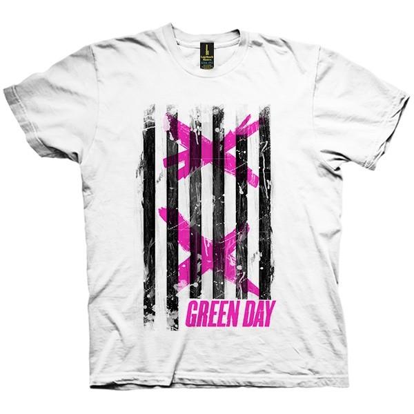 تی شرت Green Day Double X Stripes