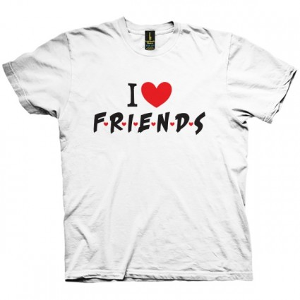 تی شرت I heart Friends TV Show