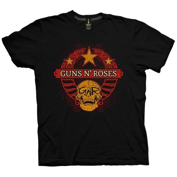 تی شرت Guns N' Roses Wheat Skully