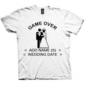 تی شرت Game Over Custom Names Wedding Date