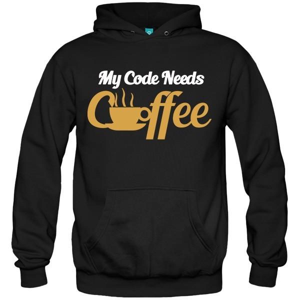 سویشرت هودی My code needs coffee