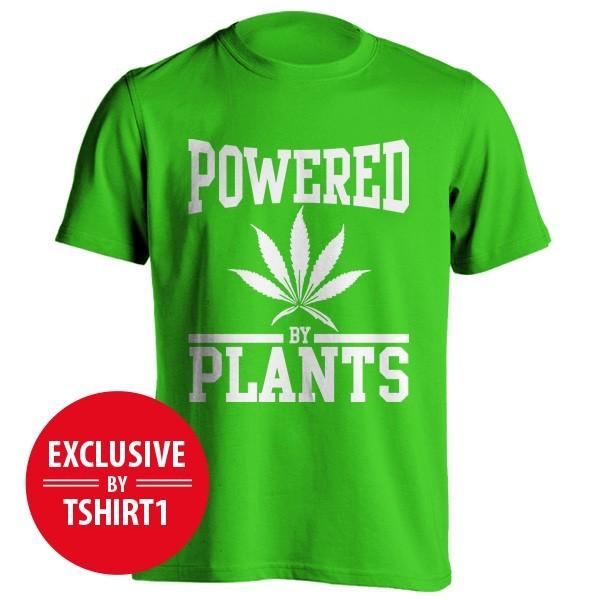 تی شرت Powered by plants