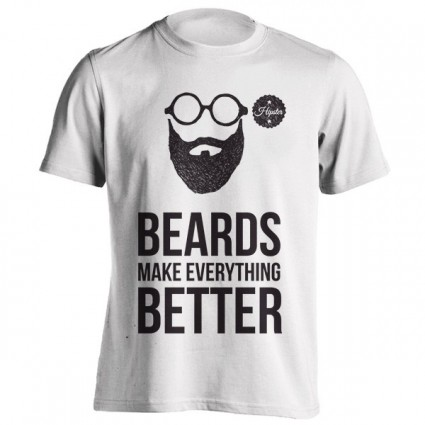 تی شرت Beards make everything better