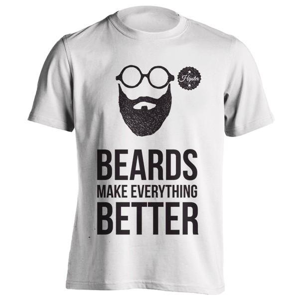 تی شرت Beards make everything better