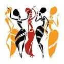 تیشرت دخترانه با طرح African dancers silhouette