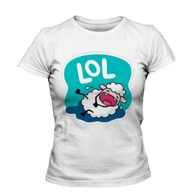 تیشرت دخترانه با طرح استیکر وایبر Lana Sheep LOL