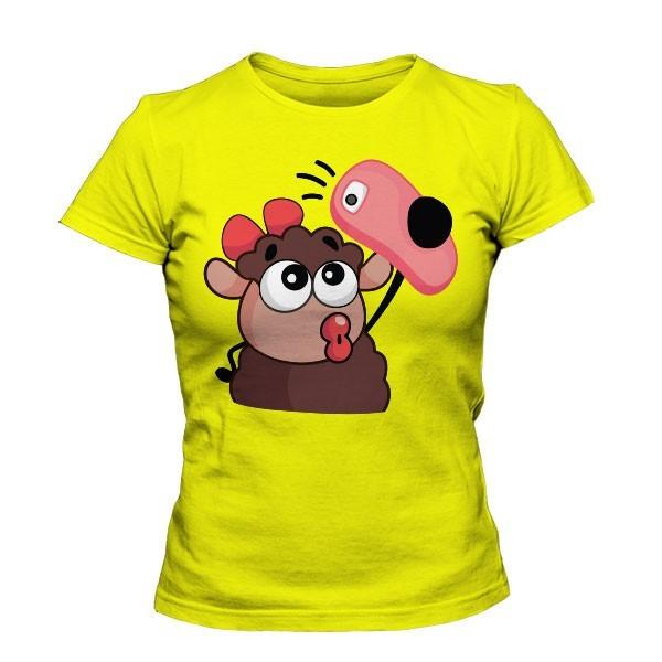 تیشرت دخترانه با طرح استیکر وایبر Lana Sheep Selfie