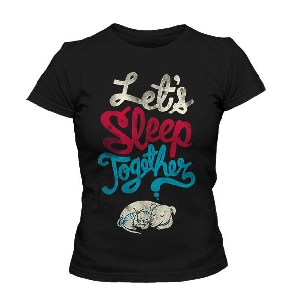 تیشرت دخترانه Let's Sleep Together