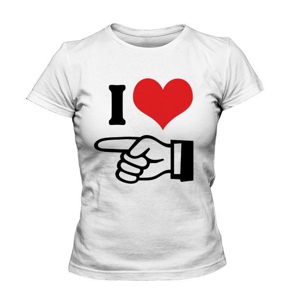 تی شرت دخترانه I Love Him