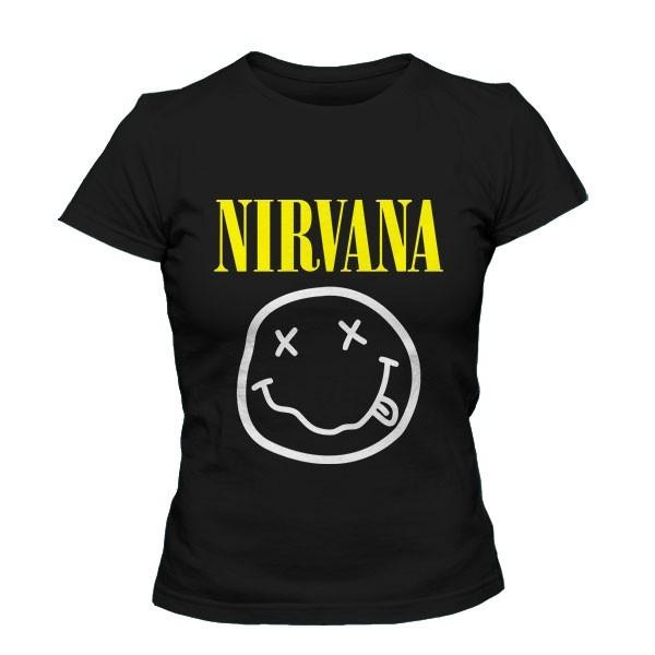 تی شرت دخترانه با طرح نیروانا