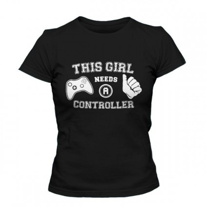 تی شرت دخترانه This Girl Needs A Controller