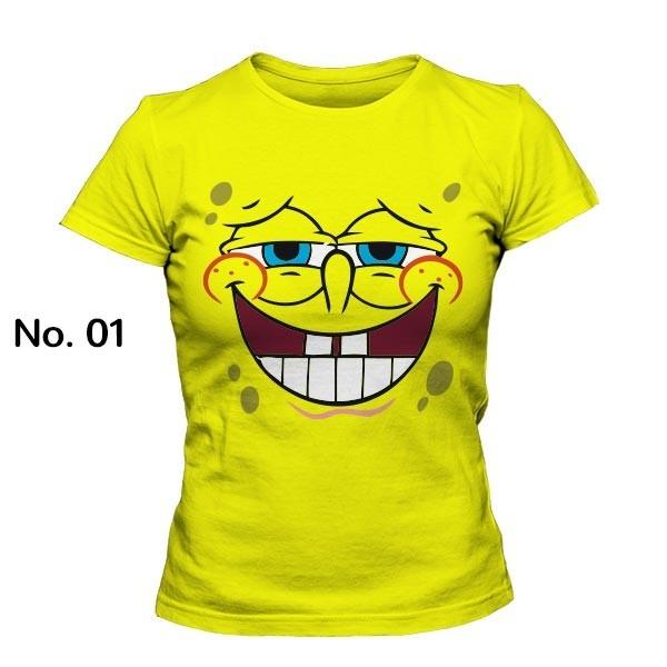 تی شرت دخترانه با طرح باب اسفنجی