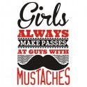تیشرت Girls passes guys with mustaches