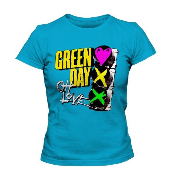 تیشرت دخترانه Green Day طرح Red Light Love