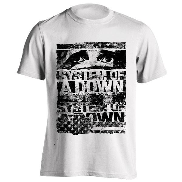 تیشرت گروه System of a Down طرح Torn