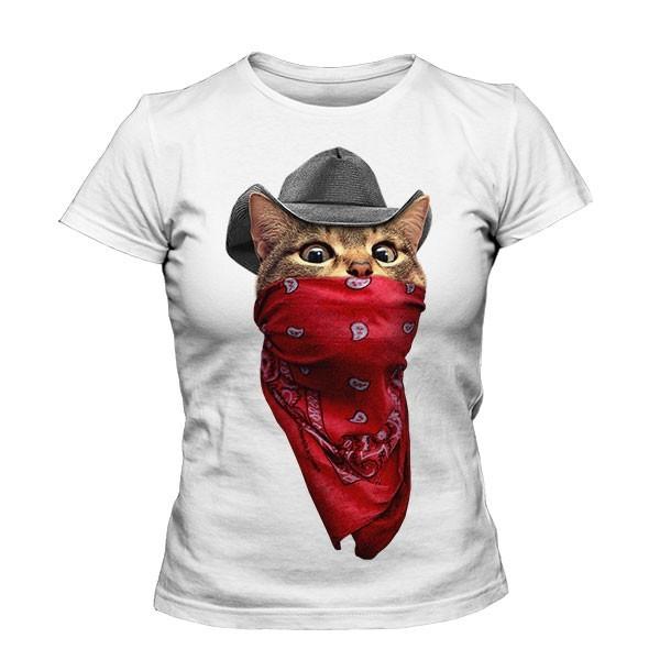 تیشرت دخترانه طرح ROBBER CAT