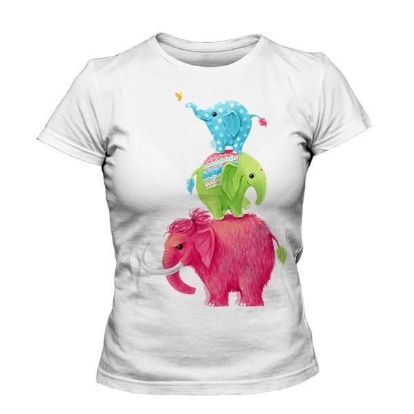 تیشرت دخترانه طرح Elephants