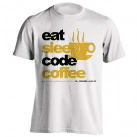 تیشرت eat sleep code coffee