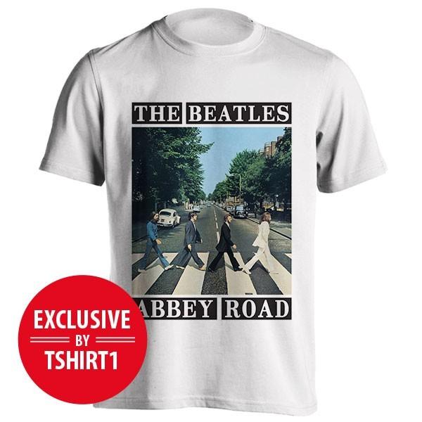 تیشرت گروه بیتلز طرح Abbey Road Block Title