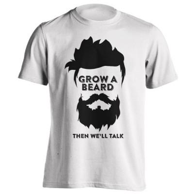 تیشرت GROW A BEARD THEN WE'LL TALK