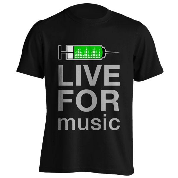 تیشرت Live For Music