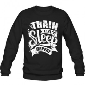 سویشرت یقه گرد Train Eat Sleep Repeat