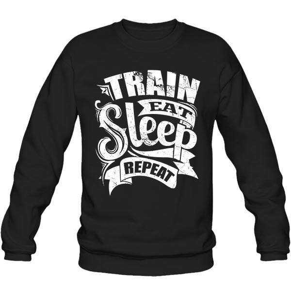 سویشرت یقه گرد Train Eat Sleep Repeat