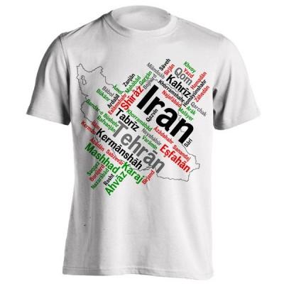 تیشرت با طرح نقشه ایران
