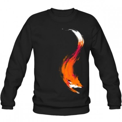 سویشرت یقه گرد The Quick Orange-Red Fox