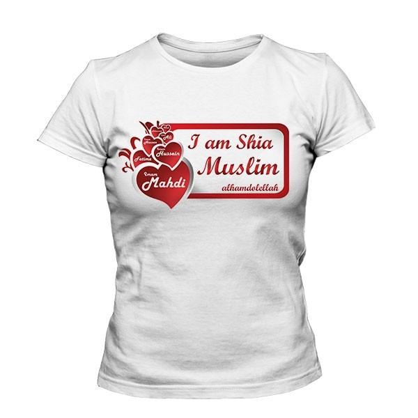 تیشرت دخترانه طرح I am Shia Muslim
