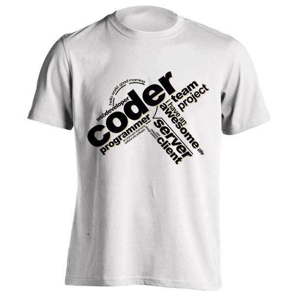 تیشرت Programmer - Typography Coder