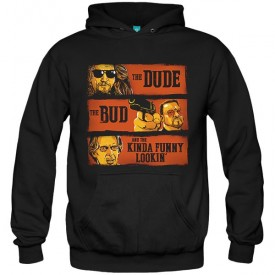 سویشرت هودی The Dude, the Bud and the Kinda Funny Looking