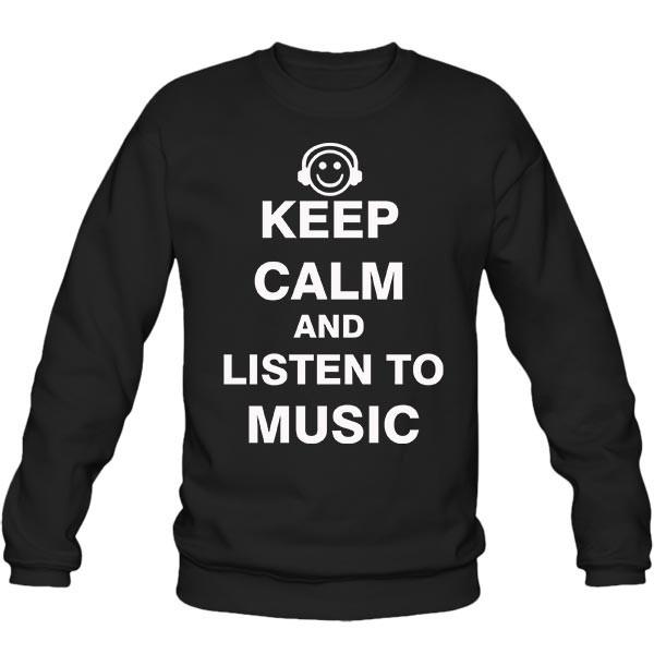 سویشرت یقه گرد Keep Calm and Listen to Music